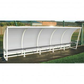 Refugio lateral de acero transparente 1,60m 3,5m Sporti France