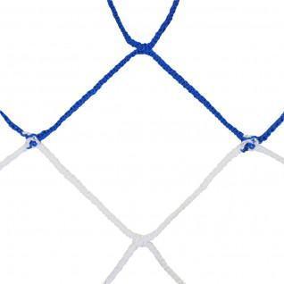 Par de redes de fútbol 11 europeo bicolor pp trenzado 4mm malla simple 120 nido de abeja Sporti France