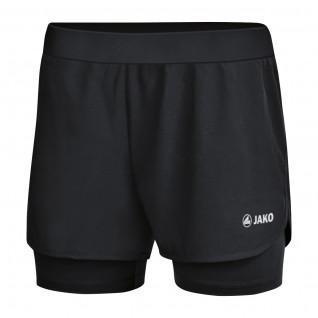 Pantalones cortos de mujer Jako 2-en-1