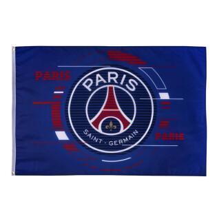 Bandera con logo grande paris saint-germain 2021/22