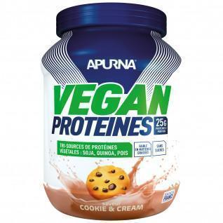 Proteína vegana Apurna Cookie and cream - Pot 600g