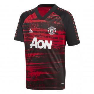 Camiseta de calentamiento del Manchester United 2020/21
