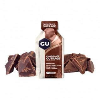 Lote de 24 Geles Gu Energy chocolate intenso