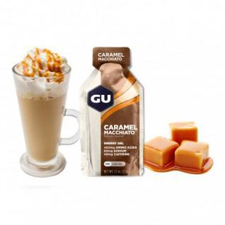 Lote de 24 geles Gu Energy caramel macchiato caffeinated