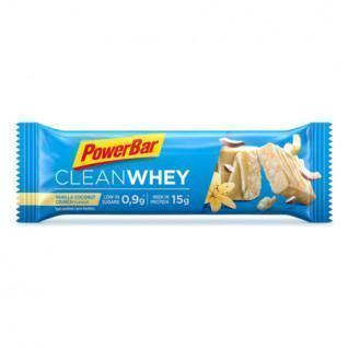 Paquete de 18 barras PowerBar Clean Whey - Vanilla Coconut Crunch