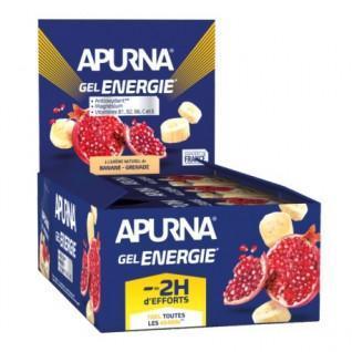 Paquete de 24 geles energéticos de granada y plátano Apurna - 35g
